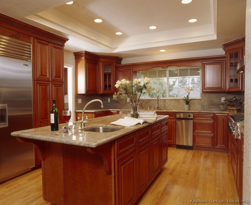 Pictures of Kitchens - Traditional - Medium Wood Kitchens, Cherry-