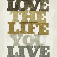 Wall mural - Live and Love II