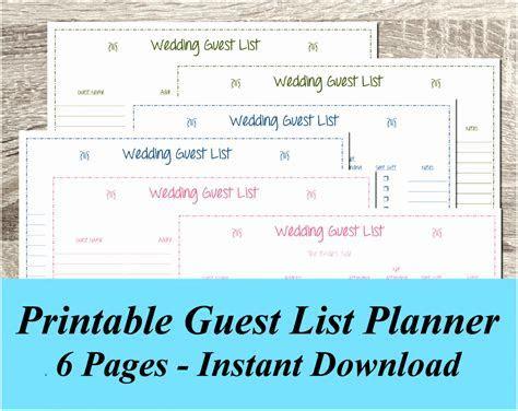 10 Wedding Planning Guest List Template Iaapu   Templatesz234