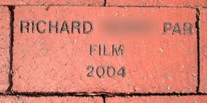 My engraved brick. =)