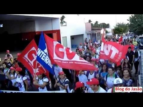 Vídeo mostra como foi a manifestação organizada pelo Sinte e Escolas de João Câmara,nesta quinta(28).
