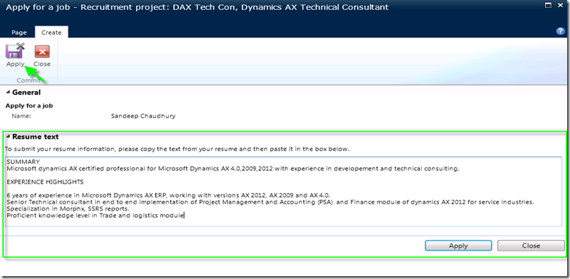 Managing recruitment and Posting Open jobs in Enterprise portal in Dynamics AX 2012  Microsoft