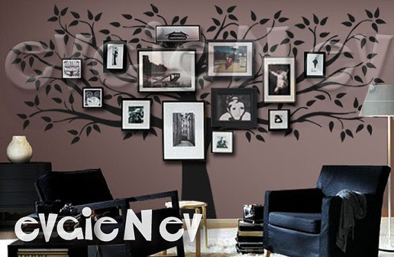 Win A $150 Evgie Wall Decals Gift Card + Easily Decorate Your Walls family-tree