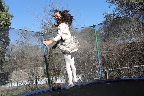Zoe on the trampoline