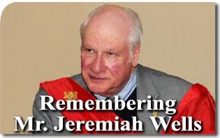 Remembering Mr. Jeremiah Wells