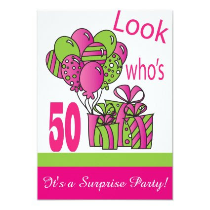 Look Who's 50 | 50th Birthday 5x7 Paper Invitation Card