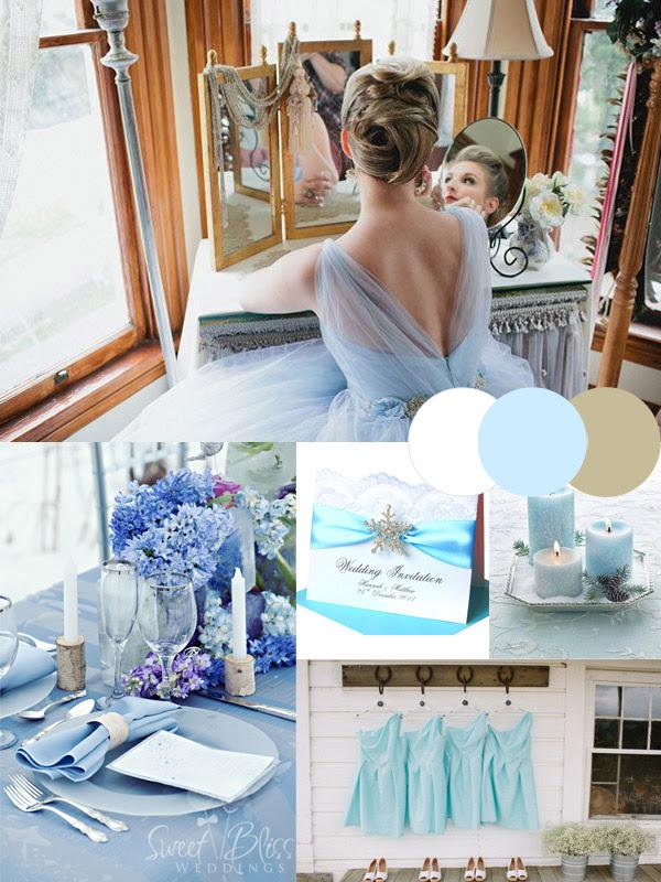 Ice Blue Winter Wedding Ideas Tulle Chantilly Wedding Blog