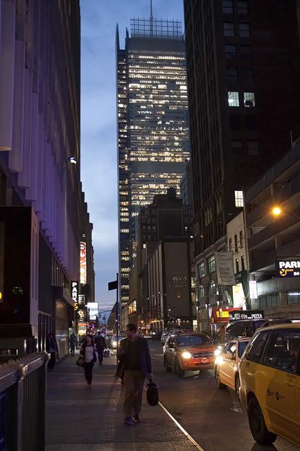 NYT building, midtown