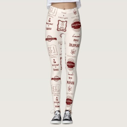 Nerdy Slogans Leggings