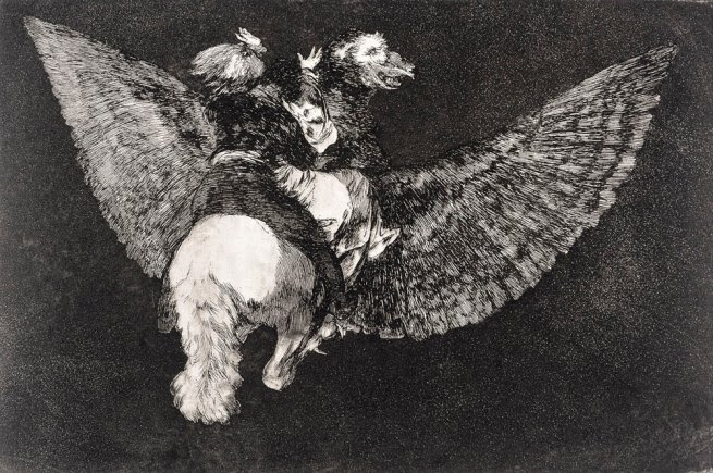 Francisco de Goya (1746-1828) 'Flying Folly (Disparate Volante)' 1816-1819