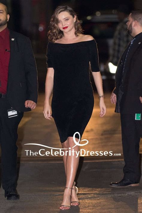 Miranda Kerr Black Off the shoulder Short Party Dress