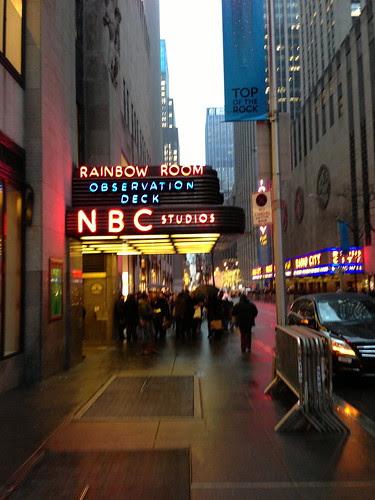 At NBC Studios, NYC