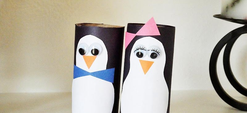 Cardboard penguin craft featured
