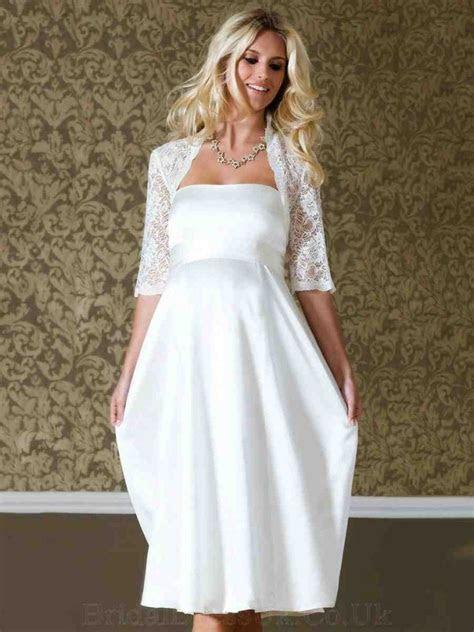 Short Wedding Dresses For Older Brides   Short Wedding