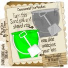 Beach Bucket N Shovel Template