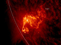 Sunspot 1121 Unleashes X-ray Flare