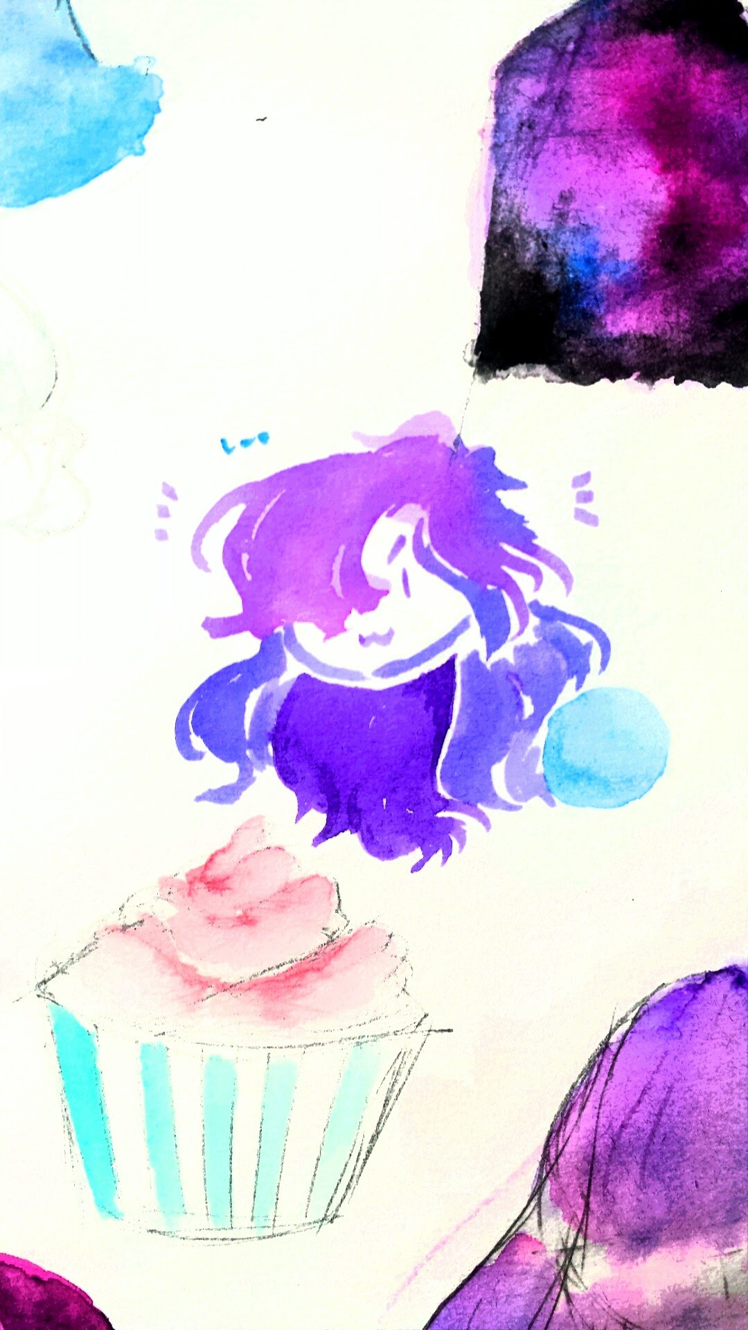 Smol watercolor amethyst plus filters