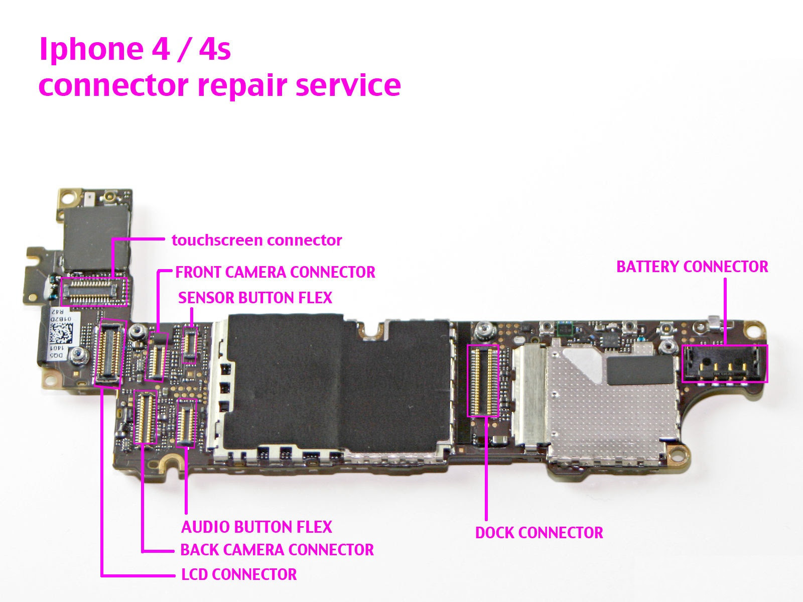 iPhone 4, 4s ANY FPC Connectors Repair Service Replacement  xFix