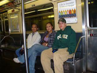 Riding the subway in NY.