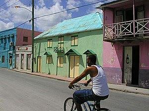 Colourful Bridgetown street