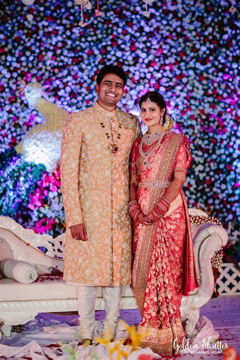 Telugu bride and groom   Indian Bridal   Groom wedding