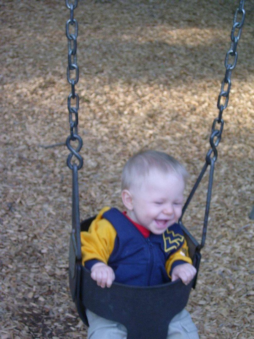 Gabriel swinging