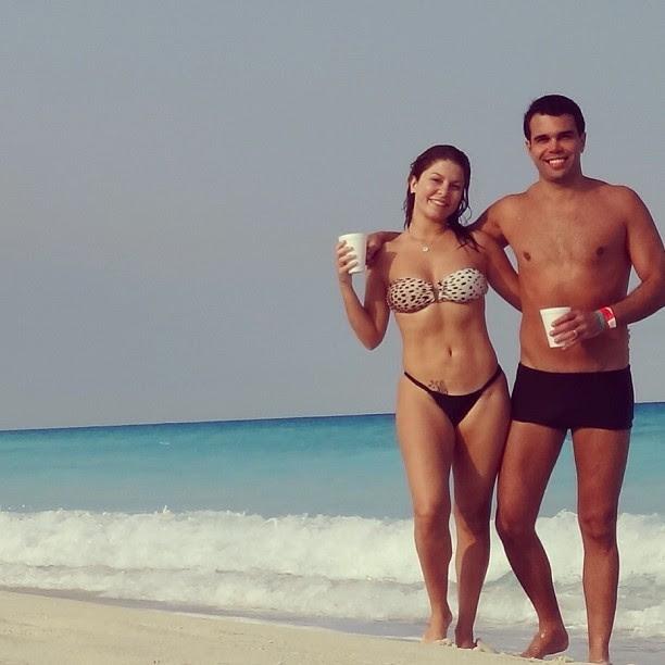 Bárbara Borges com o namorado, Pedro Marques (Foto: Instagram/ Reprodução)