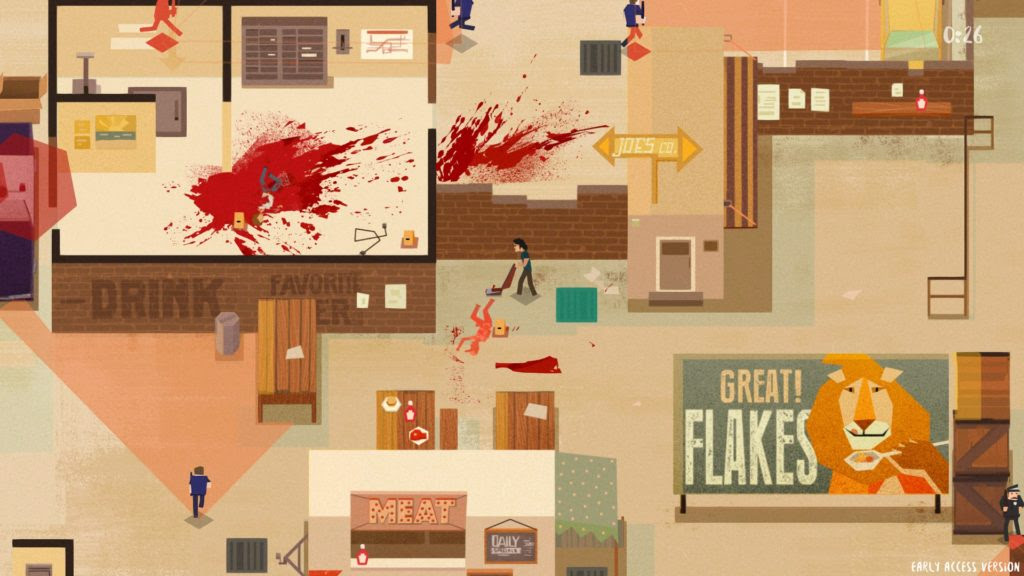Squeaky clean murder scene in Serial Cleaner screenshot