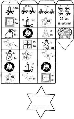 Sinterklaas Kalender Kleurplaat Tinker Tinker Craft Advent Calendar Fun For The Family