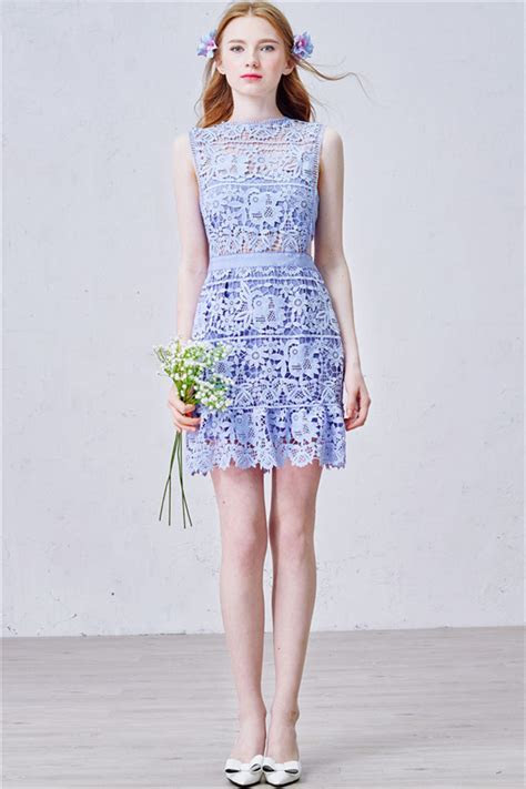 Lavender Short Lace Homecoming Dress 2017 Summer Party