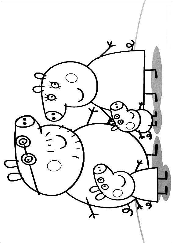 Peppa Pig Dibujos Para Imprimir Y Colorear
