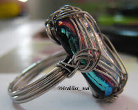 Wire wrapped Square Cab Ring