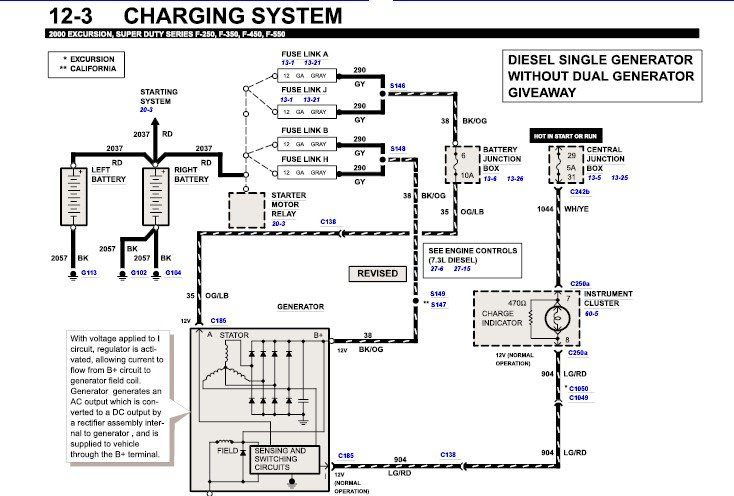 7 3 Ford Voltage Regulator Wiring Diagrams 1993 F150 Wiring Diagram 1991rx7 Yenpancane Jeanjaures37 Fr