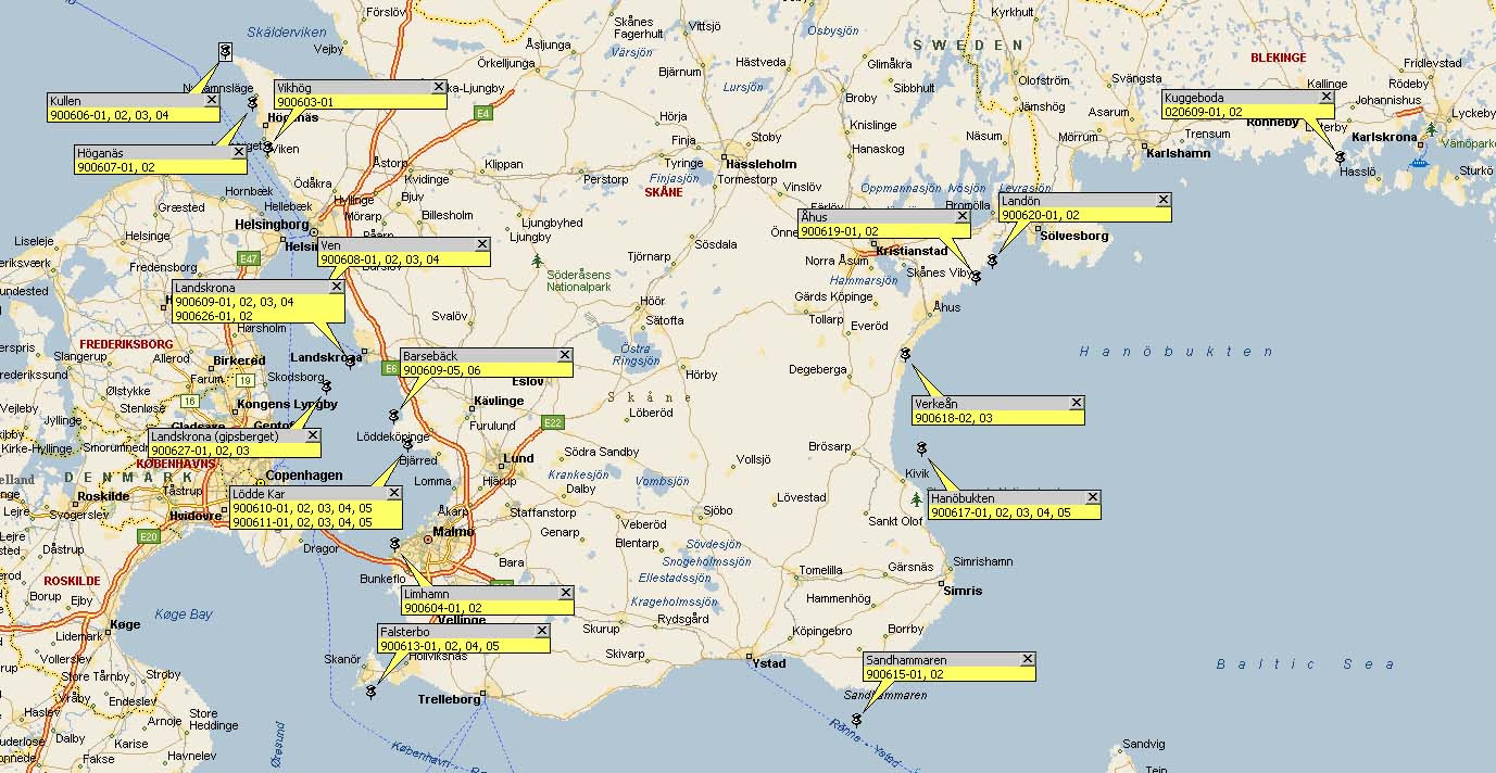 Karta Blekinge Skane.Karta Skane Blekinge Karta