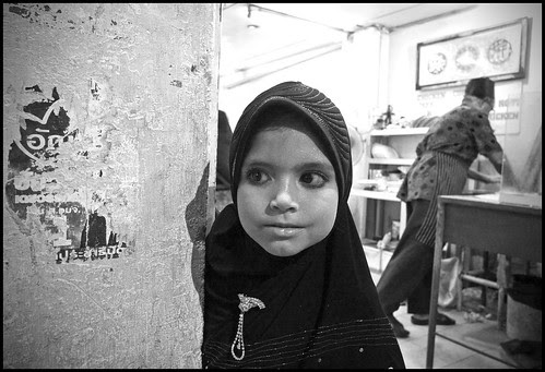 Muslim girl on Thalang Road, Phuket