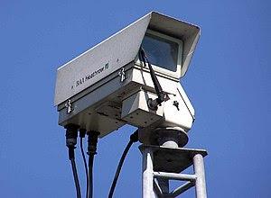 Security camera at London (Heathrow) Airport. ...