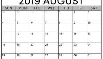 Printable Pdf 2020 Monthly Calendar Template Word