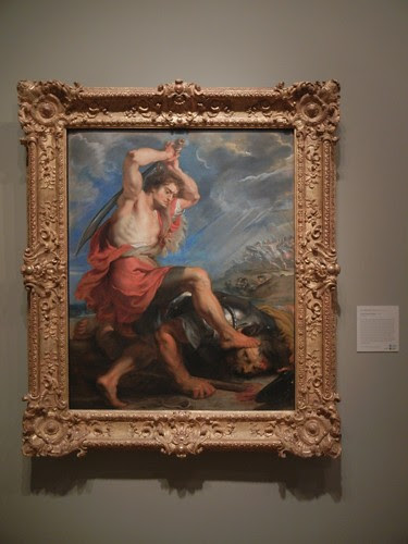 DSCN7662 _ David Slaying Goliath, c. 1616,  Peter Paul Rubens (1577-1640), Norton Simon Museum, July  2013