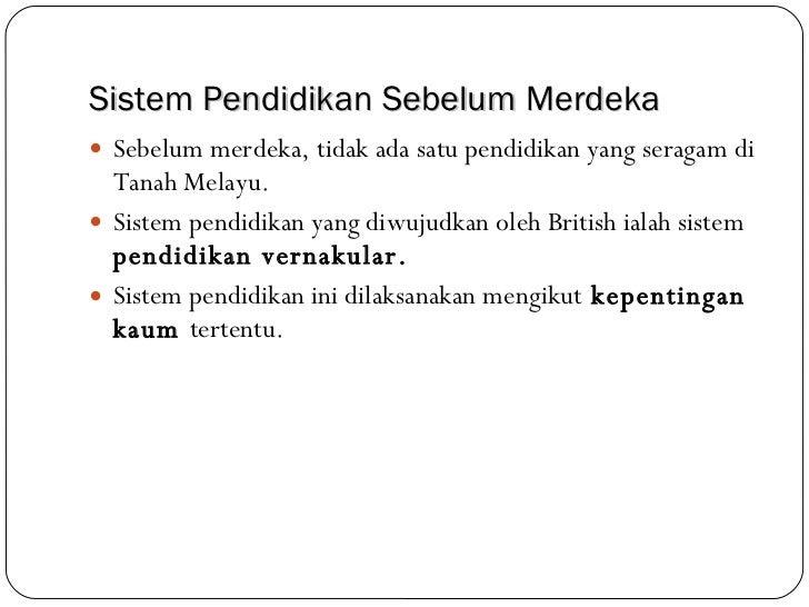 Pendidikan Vernakular Di Tanah Melayu Kronis L