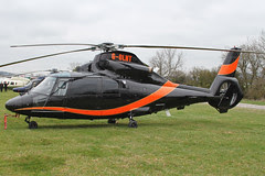 G-OLNT - 1988 build Aerospatiale SA365N1 Dauphin, at the 2012 Cheltenham Festival