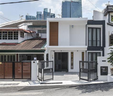 modern malaysian terrace house exterior design house