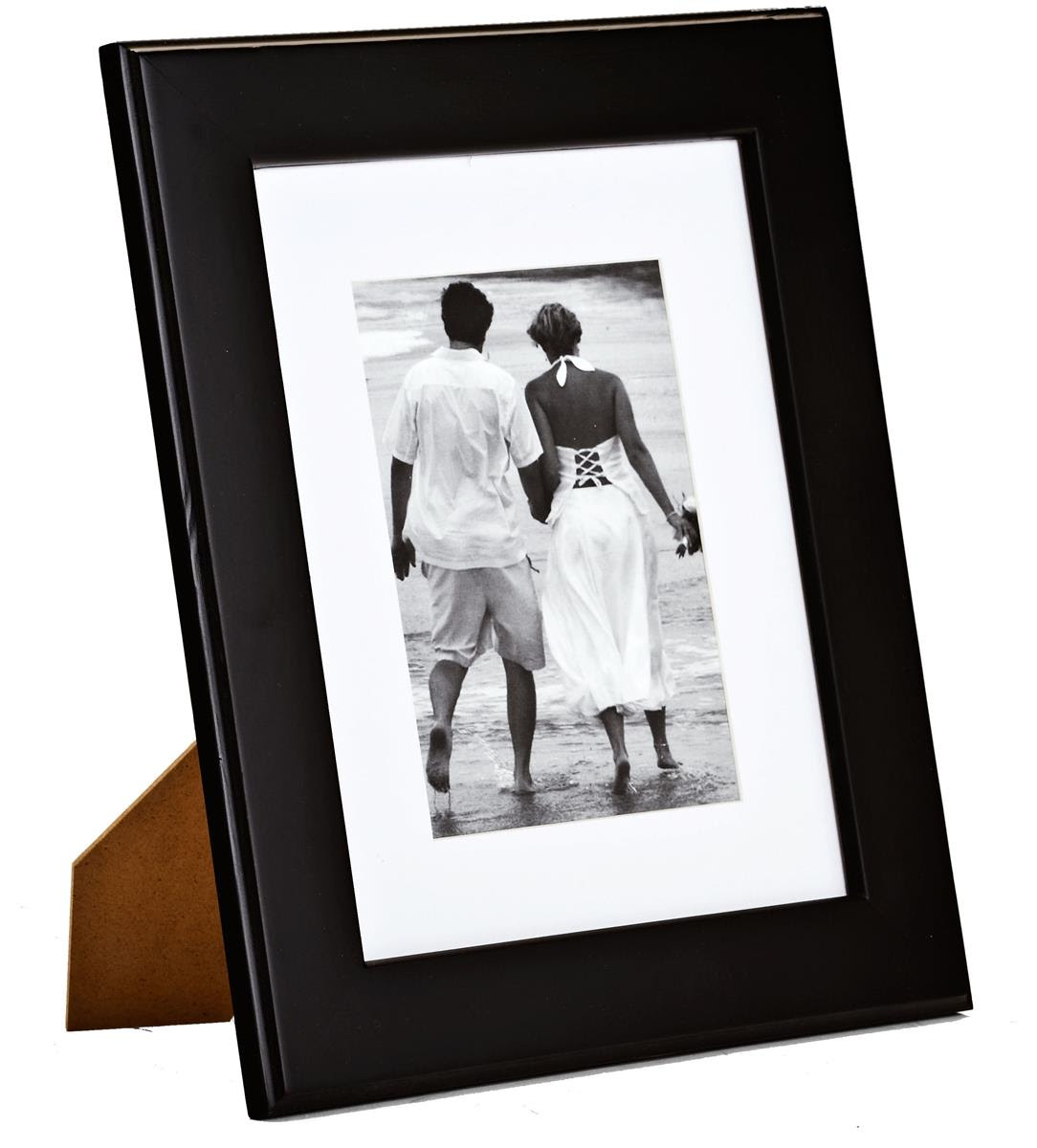 "Black Picture Frame With Mat | 8"" x 10"" Matted Photos"