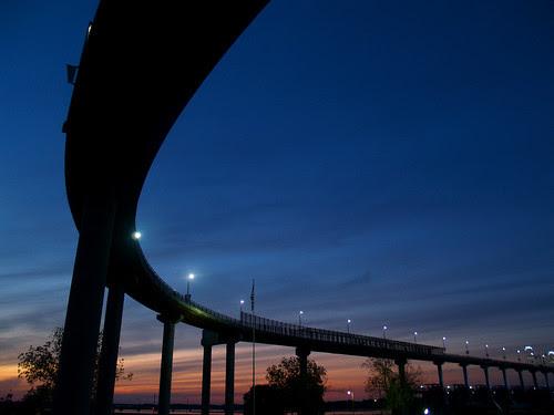 Sunset from under the Big Dam Bridge