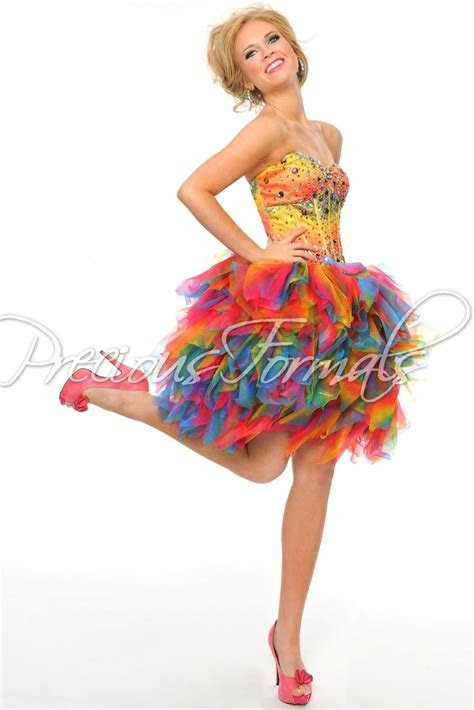 17 Best ideas about Rainbow Prom Dress on Pinterest