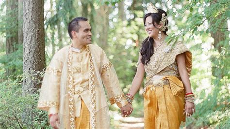 A Colorful, Traditional Cambodian and Chinese Wedding in