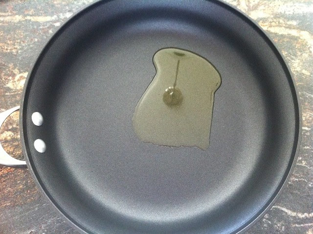 Extra Virgin Olive Oil in Saute Pan