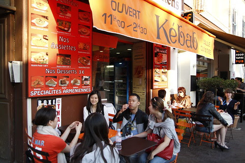 Kebab stall in Cannes