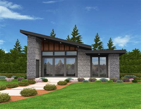 mercury modern shed roof house plan  mark stewart home
