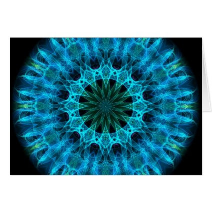 Blue Energy Kaleidoscope Greeting Cards