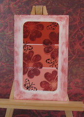 Flowers & butterflies on paint chips Apl 2009